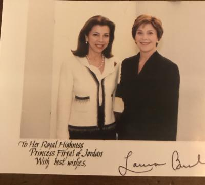 With First Lady Laura Bush