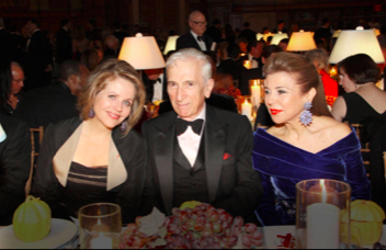 Princess Firyal with Renee Fleming and Gay Talese at the New York Public Library event.