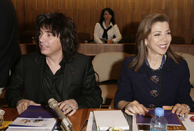 With Jean Michel Jarre chairing the UNESCO Goodwill Ambassadors annual meeting.