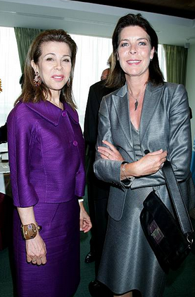 Annual Meeting Of Goodwill Ambassadors At The Unesco In Paris, France On May 14, 2009 – Princess Firyal and Princess Caroline of Hanover.