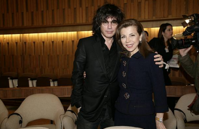 With Jean Michel Jarre at the UNESCO Goodwill Ambassadors annual meeting.