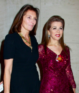 With Cecilia Sarkouzy Atties at the New York Public Library Gala.