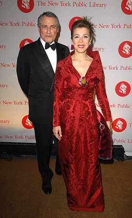 With Gil Shiva at the 2008 Library Lions benefit at the New York Public Library's Humanities and Social Sciences Library.