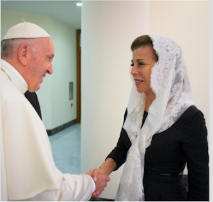 With His Holiness Pope Francis.
