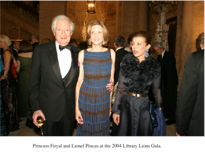 With Lionel Pincus and Catie Marron at the 2004 Library Lions Gala.