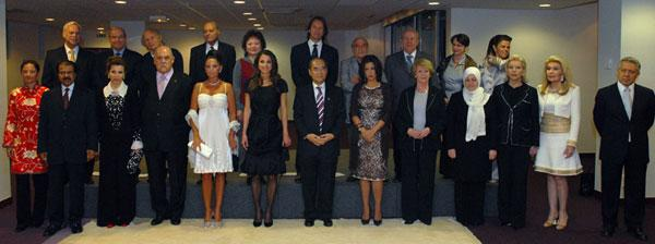 Queen Rania and the GoodwillAnnual Meeting of UNESCO Goodwill Ambassadors, 3-4 April 2007 at UNESCO Headquarters